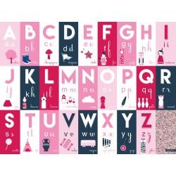 Alphabet à fleur