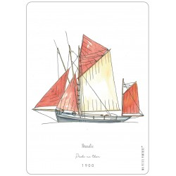 Carte postale - bateau - Ma Petite Panthère